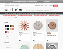 UX: Mockup for upscaling the West Elm website