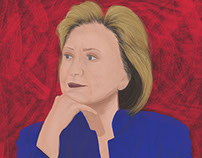 Digital Illustration (iPad Pro) - Hillary Clinton