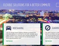Commuter Connections Landing Page Designs