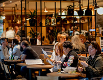 Concept & Graphic ID Grand Café Schiphol Plaza