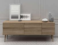 3D MODEL Muuto Reflect Sideboard Large
