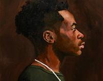 Eshovo oil on canvas 12 x 24 in