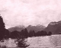 un paysage flou