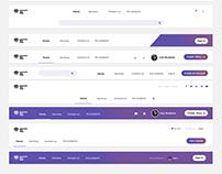 UI Kit – 10 Navigation Bars Ready To Use PSD / FREE