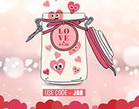 Love in a jar promotion by innerchef