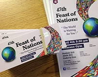Feast of Nations : Ticket, poster and brochure design