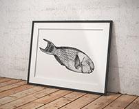 dotwork fish.