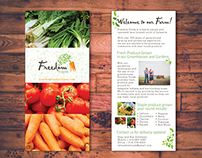 Freedom Foods Rack Card