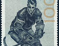 NHL - 100 Years of Hockey Stamp Art