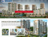 Maksem Yapı A.Ş. website tasarım çalışması