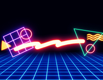 '80s Neon Shapes/Wallpapers