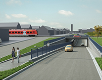 Making of planned underpass in Senden, Germany