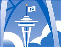 Microsoft Store Seattle digital mural