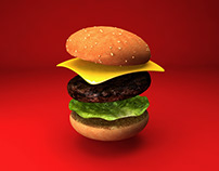 Every Day Challenge - Burger - C4D