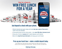 CapitalOne - Free Lunch Promotion Website