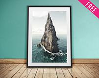 Free Artwork Frame Mockup IN PSD