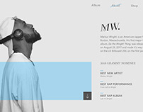 Artist Page UI concept