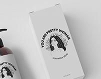 "Logo for cosmetics store ""You are pretty woman"""