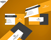 Orange Corporate Business Card