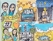 Dibujo a Pedido: Heyne & Pame