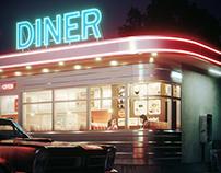 ALICE'S DINER. CGI