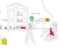 Breaking the wool App, website & illustrations