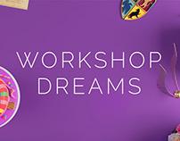 Workshop dreams. Landing page