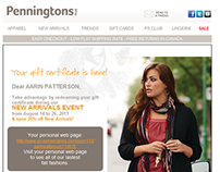 Penningtons & Addition Elle Email Marketing