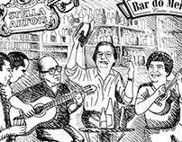 "Illustration ""Bar do Meio"""