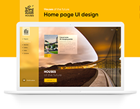 Houses home page UI design