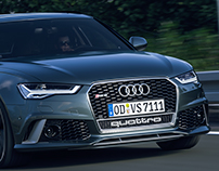 Audi RS6 Avant - german Autobahn - Full CGI