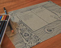 PLACEMATS FOR DRAWING IN RESTAURANT