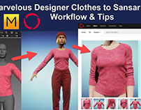 Marvelous Designer to Sansar Workflow Video Tutorial