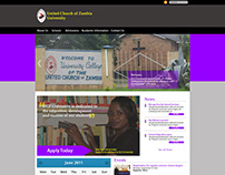 United Church of Zambia (UCZ) University site redesign