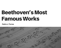 Beethoven's Most Famous Works