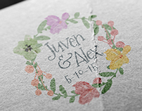 Juven & Alex Wedding Monogram