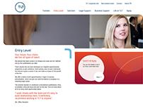 TLT Solicitors UI/UX design