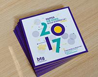 Carton de voeux 2017 par Btg