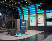 Set design for Dutch Broadcast Foundation NOS SPORT