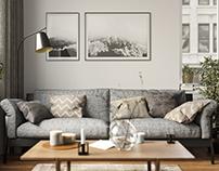 Living room. Interior design