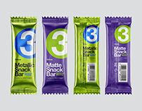 8 Snack Bars PSD Mockups