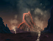 Dying planet, digital arts