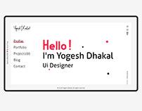 Personal Portfolio & Resume Website Concept