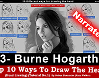 "Top 10 ways to draw the head [3- Burne Hogarth] ""Narrat"