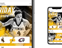 2017-18 Wyoming Women's Basketball Game Day Graphics
