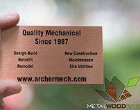 Copper Metal Business Cards