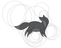 Fox Logo Design With Golden Ratio