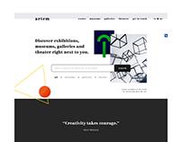 Brutalism website, experimental project | artem