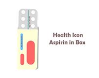 bix box studio - Health Icon Aspirin in Box