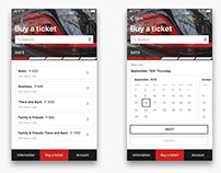 App buying a ticket to Aeroexpress train